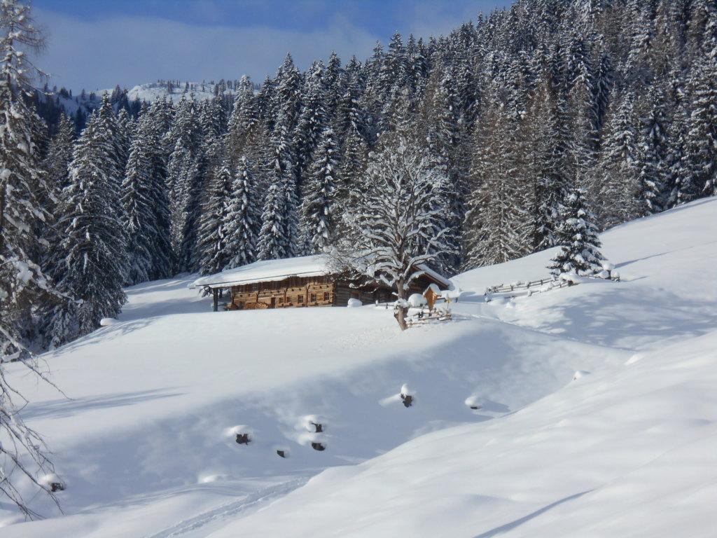 Die Spießalmhütte im Winter