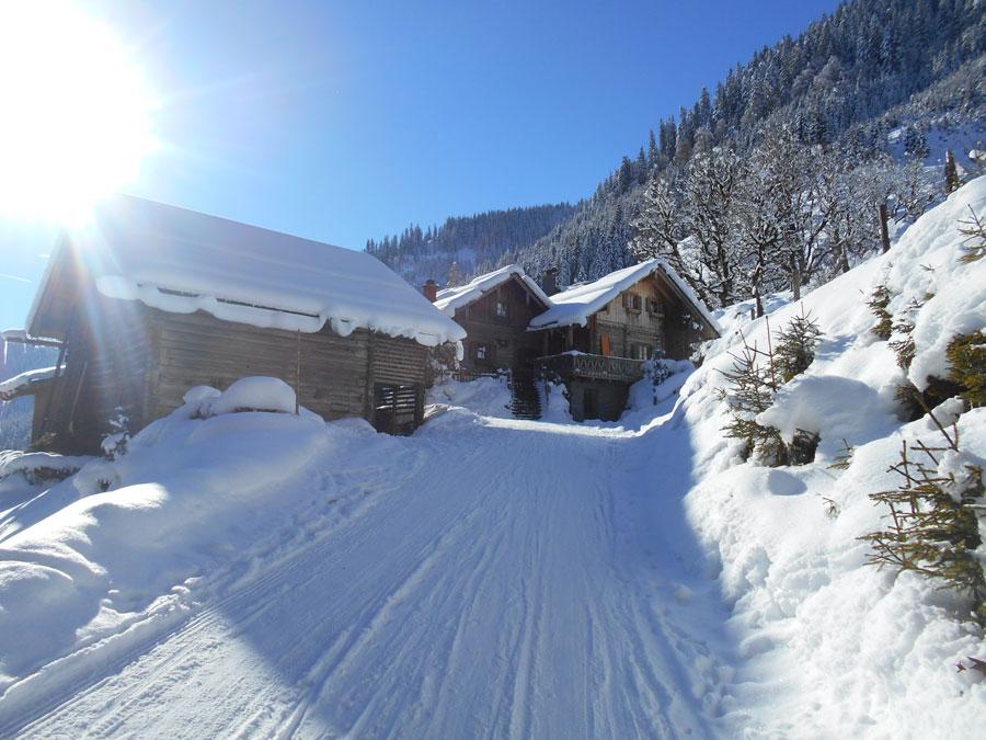 Winterwandern rodeln sittleralm 3 laemmerhof 39 s blog for Fischteich im winter
