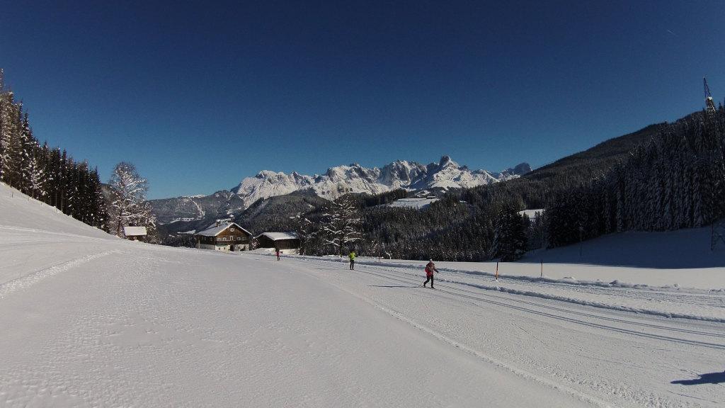 Langlaufloipe mit Panorama im Salzburger Land