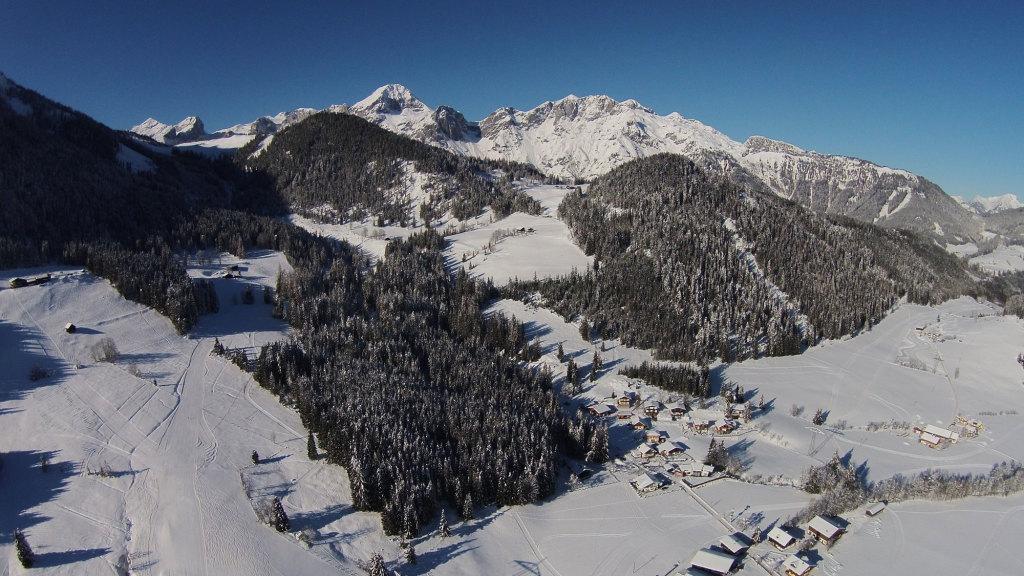 Blick auf St. Martin im Winter