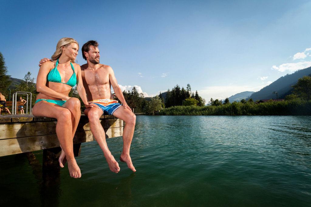 Naturbadesee im Salzburger Land