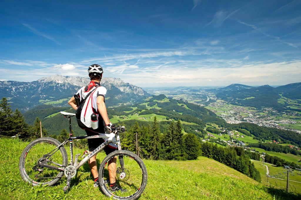 Ausblick beim Mountainbiken im Tennengau