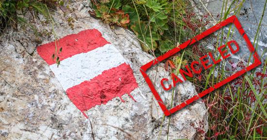 """Urlaub """"canceled"""" in Österreich"""