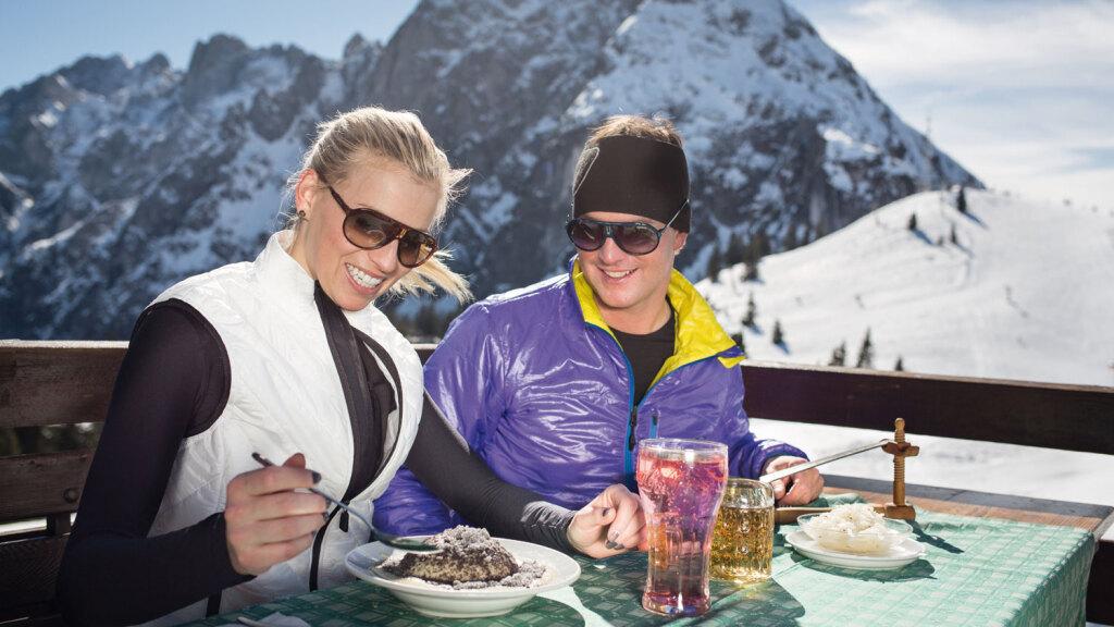 Germknödel auf Österreichs Skihütten