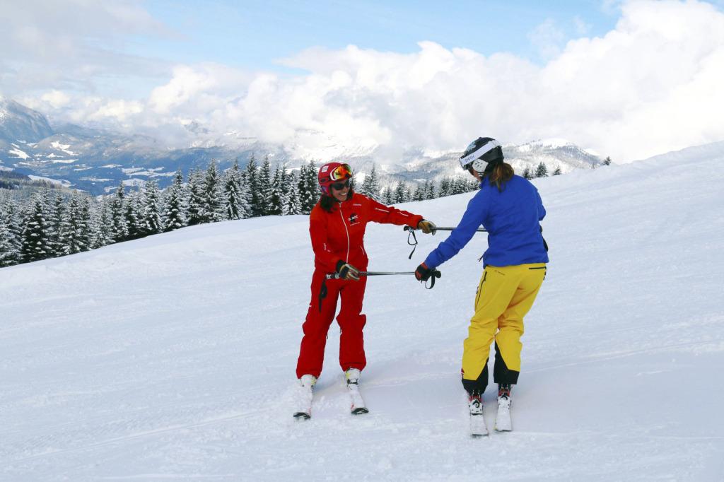 Übung macht den Meister - auch beim Skifahren! (c) Skischule Russbach