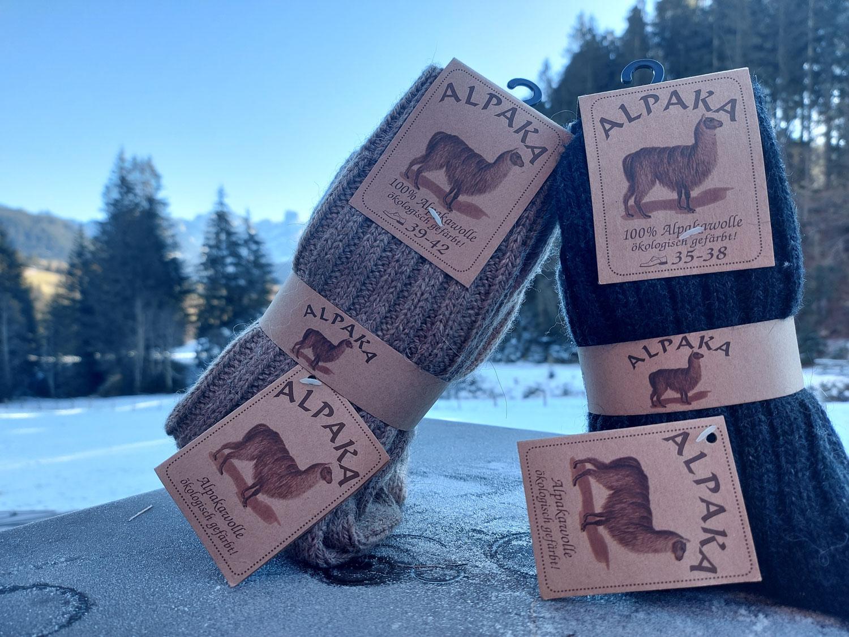 Socken aus Alpakawolle