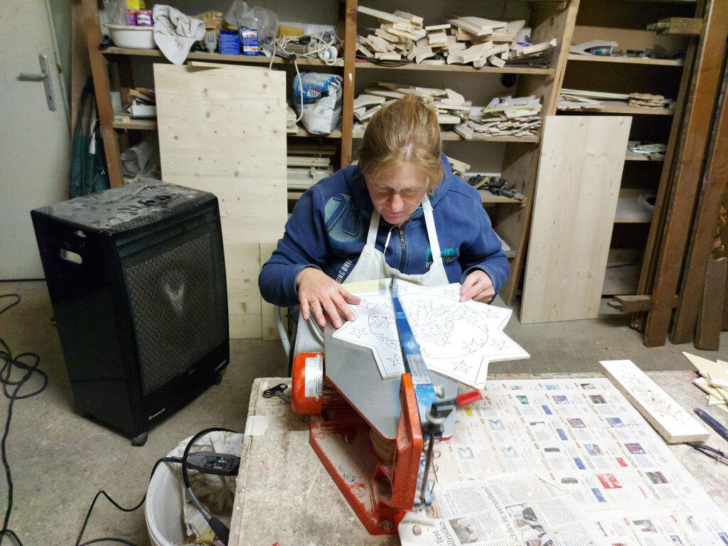 Anita beim Werkeln
