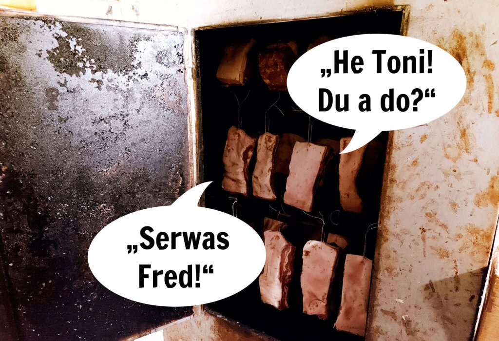 """""""Servus Fred!"""", """"Hey Toni! Du auch da?"""""""
