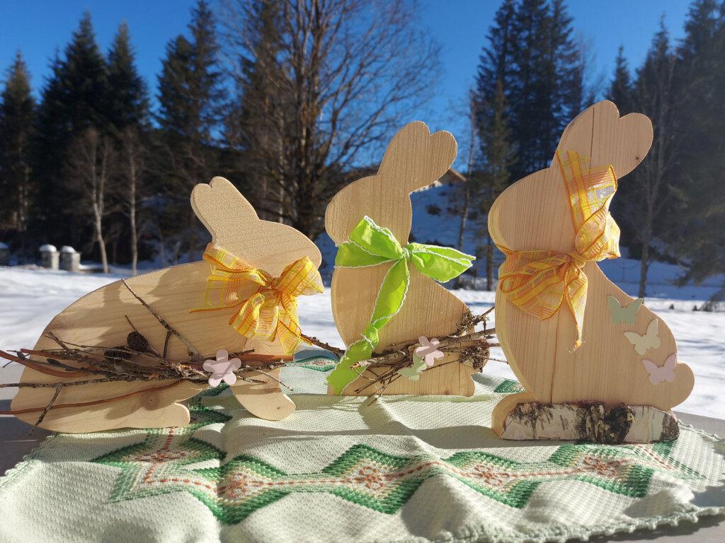 Osterhase-Holzdekoration-Ostern